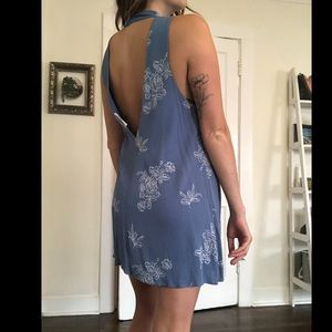 Backless tunic dress